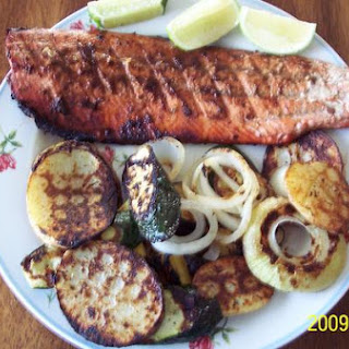 Grilled Wild Salmon With Deva Naturals, Mangosteen Bbq Sauce