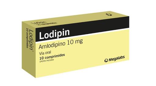 Amlodipin Lodipin 10Mg  10Comprimidos Megalabs