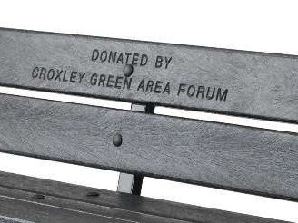 Engraved Recycled Plastic Donated Bench