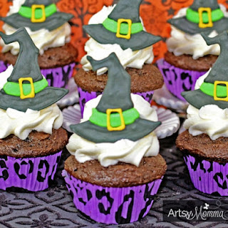 Witch Hat Toppers with Royal Icing