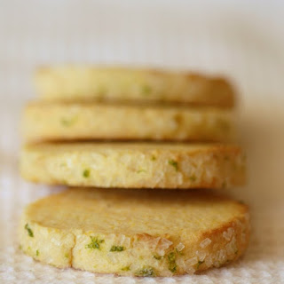 Lime Cornmeal Cookies