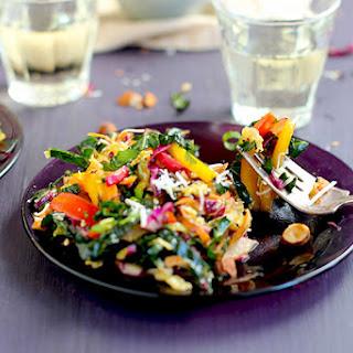 Kale Slaw with Sesame Mandarin Tahini Dressing