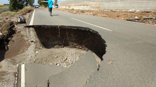 Tres carreteras permanecen cortadas en la provincia tras las inundaciones