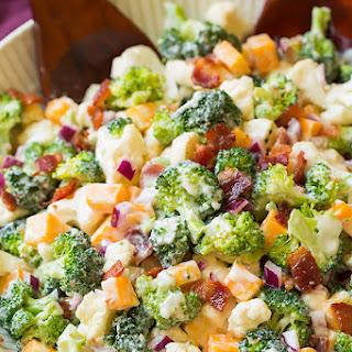 Broccoli and Cauliflower Salad.