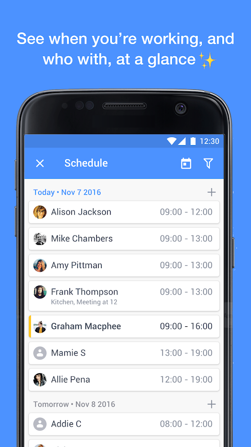 Yavi - Work Chat and Schedule- screenshot
