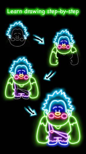 Draw Glow Cartoon - How to draw 1.0.9 screenshots 6
