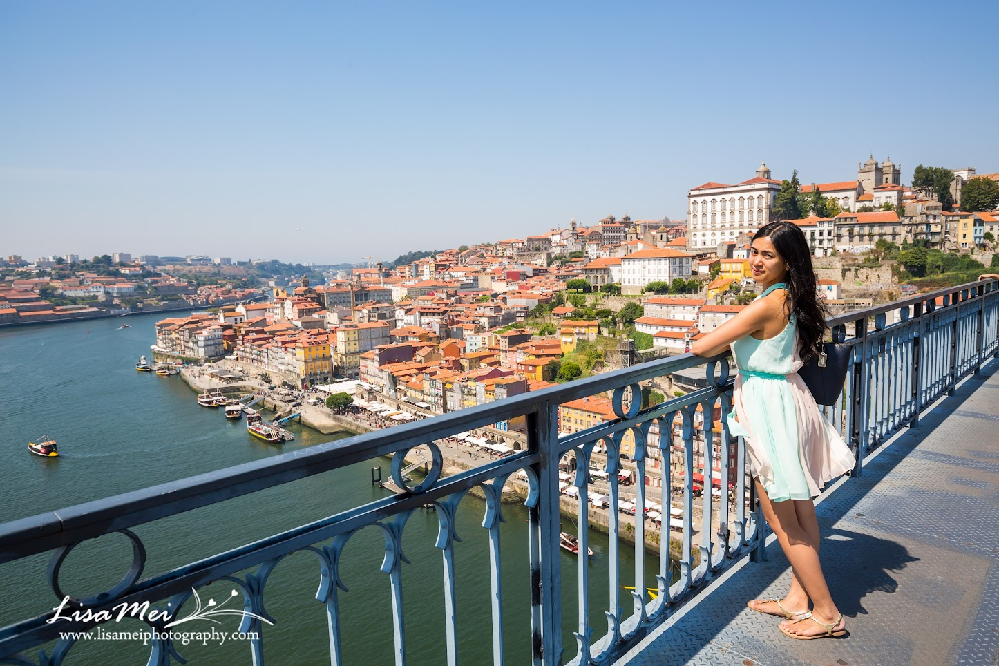 Overlooking Porto Old Town from Dom Luís I Bridge