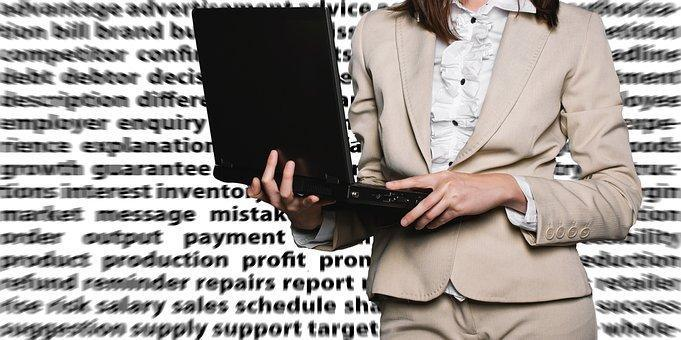 Businesswoman, Female, Laptop, Notebook