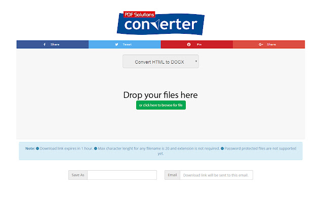 HTML to DOCX Converter