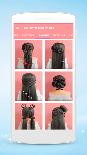 Hairstyles step by step for girls Apk 1