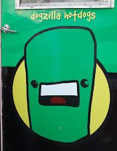 Photo: not sure how I feel about green hot dogs, even if they are cute like Domo