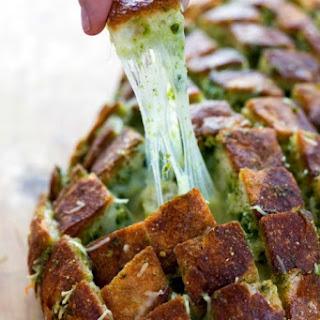 Cheesy Pull-Apart Pesto Bread.