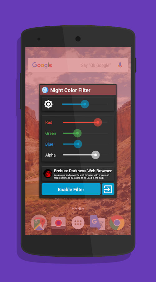 Night Filter: Bluelight Filter- screenshot