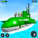 US Army Submarine Driving Military Transport Game icon