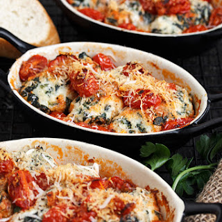 Ricotta and Spinach Gnudi with a Cherry Tomato Sauce