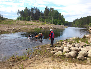 Photo: Mikas LC 4 im Fluss bei der EnduroBoxer Tour 2016