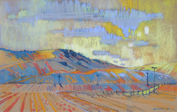 Photo: Vaqueros Fall, pastel by Nancy Roberts, copyright 2014. Private collection.