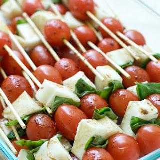 Caprese Salad Skewers.