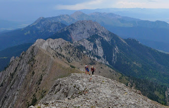 Photo: Other hikers on way up to Naya Nuki - Ross Peak is just above the center of the photo.