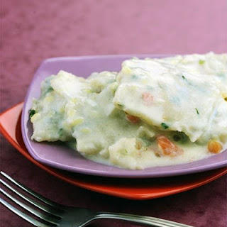 Garlic Basil Ravioli with Alfredo Sauce