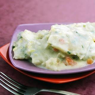 Garlic Basil Ravioli with Alfredo Sauce Recipe