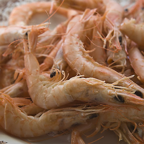 Enjoy a serving of prawns from Huelva