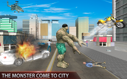 Real Monster City Battle Free Game screenshot