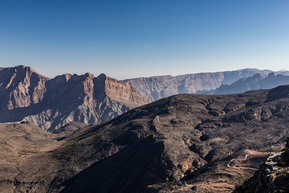 Punkt widokowy przy hotelu Shorfet Alalamin, Oman, Wadi Bani Awf