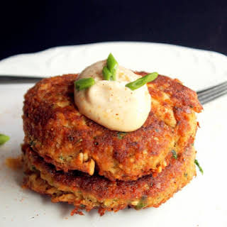 Creole Salmon Cakes with Hot Mayonnaise.