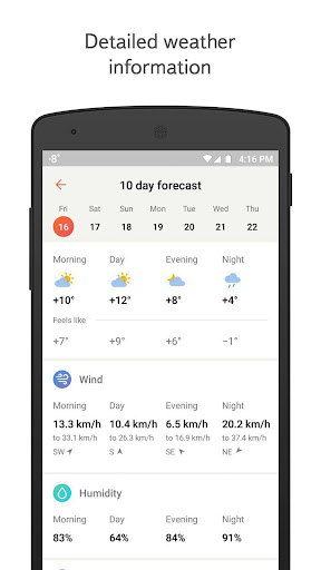 Yandex.Weather screenshot 3