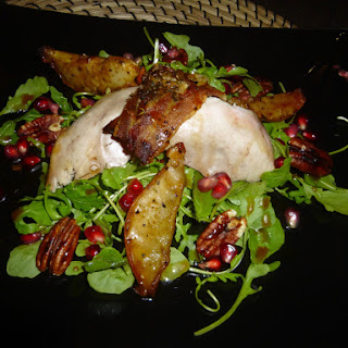 Partridge, Pear, Pomegranate and Pecan Salad.