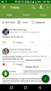 Twishe - náhled