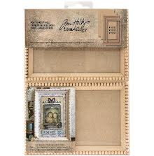 Tim Holtz Idea-0logy Mini Wooden Framed Panels 4/Pkg - Natural