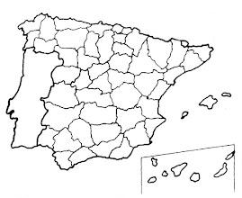 Photo: Mapa mudo de provincias
