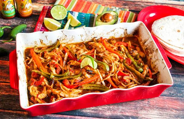 Baked Chicken Fajitas Ready To Serve.