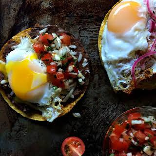 Breakfast Tostadas Two Ways (Gluten Free).