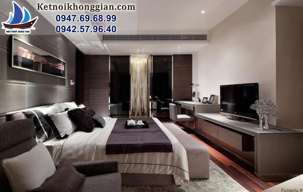 thiết kế phòng ngủ hợp phong thủy hiện đại