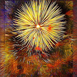 Celebrate by Al Duke - Abstract Fire & Fireworks ( canada, fireworks )