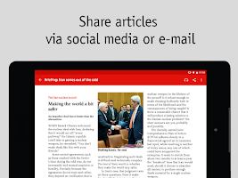 Screenshot of The Economist