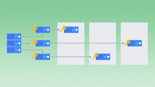 서버를 통한 암호화 키를 표현하는 그림