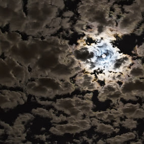 Puzzled Moon Clouds by Doug Redding - Landscapes Starscapes