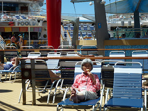 Photo: relax on the pool deck on 12th floor. MC had coutless yogurt ice cream on this cruise