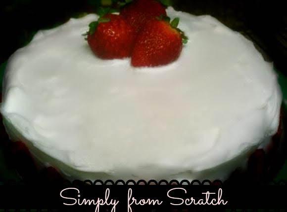 Strawberry  Glazed Cake Recipe