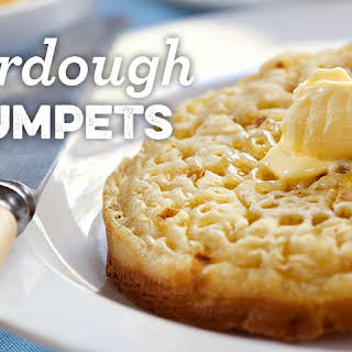 Vegan Sourdough Crumpets.