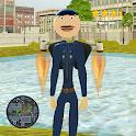 Police Stickman Jetpack Miami Crime icon