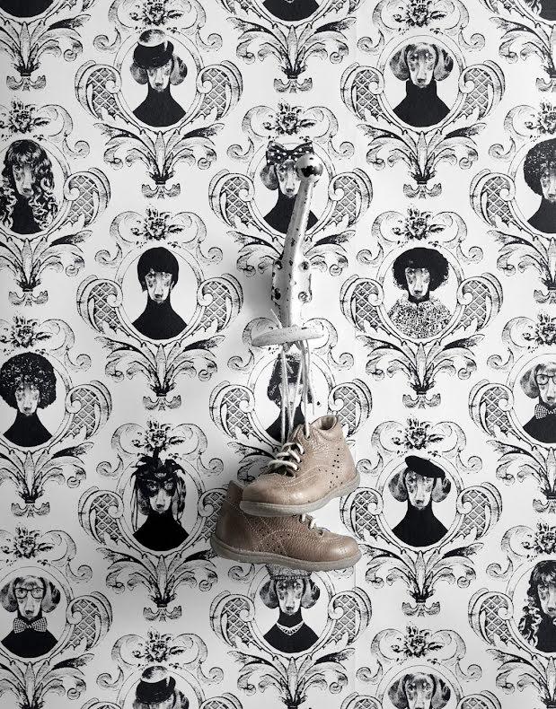 Studio Lisa Bengtsson Tillsammans tapet med hundar