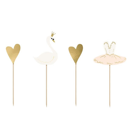Cupcaketoppers - Lovely Swan