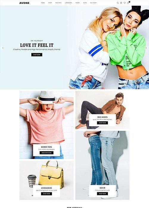 Fashion shopify theme Avone