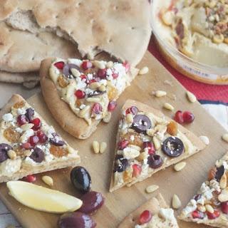 Middle Eastern Hummus Flatbread with Pomegranate, Feta & Preserved Lemon