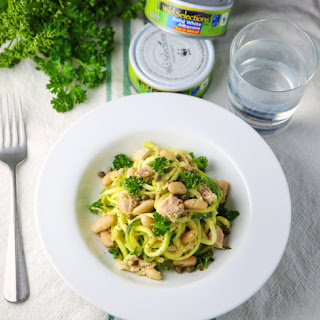 Zucchini Noodles with Tuna and Cannellini Beans Recipe